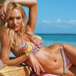 Model in bikini with sun tan